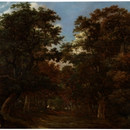 Forest with Rider and Dogs