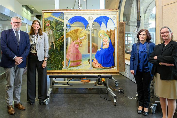 El Museo del Prado presenta La Anunciación de Fra Angelico tras su restauración