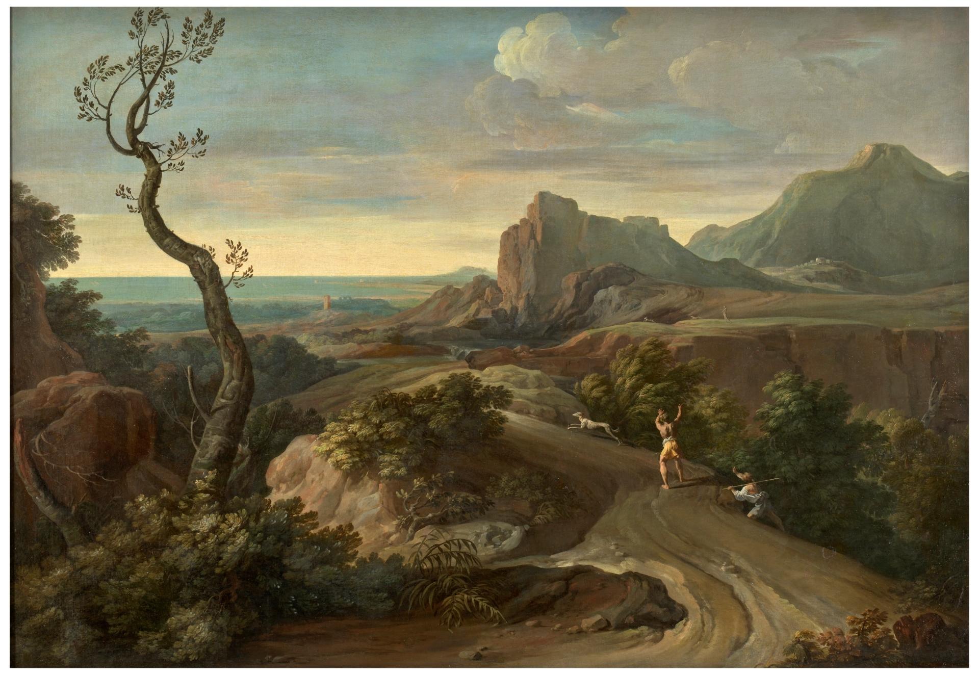 Resultado de imagen de Paisaje con peñasco y árboles - Colección - Museo Nacional del Prado
