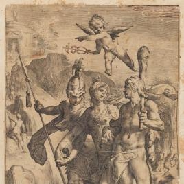 La Virtud conduce a Hércules y Escipión al Templo de la Fama