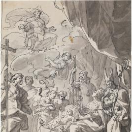 Alegoría del nacimiento de un infante (?)