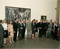 SS.MM. los Reyes han inaugurado hoy la exposición Picasso. Tradición y vanguadia que celebran simultáneamente el Museo del Prado y el Museo Reina Sofía