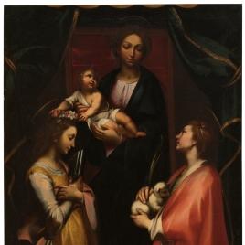 La Virgen con el Niño y las Santas Cecilia e Inés