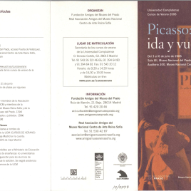 Picasso : ida y vuelta : Universidad Complutense : cursos de verano 2006 / Museo Nacional de Prado , Museo Nacional Centro de Arte Reina Sofía.