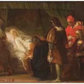 Doña Isabel la Católica dictando su testamento (boceto)