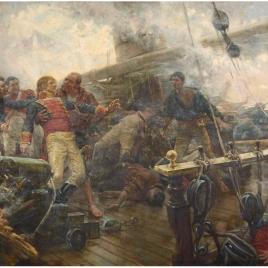 Muerte de Churruca en Trafalgar