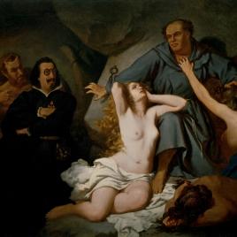"""Lutero. Asunto tomado del """"Sueño del Infierno"""", de Quevedo"""