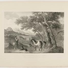 Paisaje con un anacoreta predicando a los animales