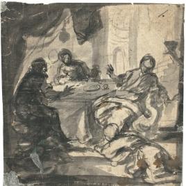 La Magdalena a los pies de Cristo