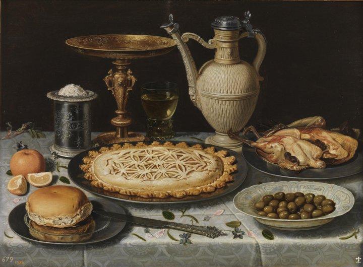 Mesa y mantel en el Museo del Prado