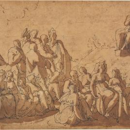 San Juan Bautista predicando en el desierto