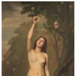 Eva cogiendo la manzana