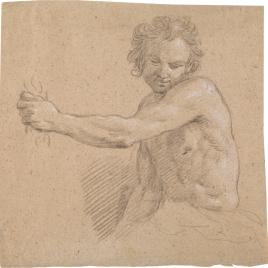 Media figura de hombre desnudo