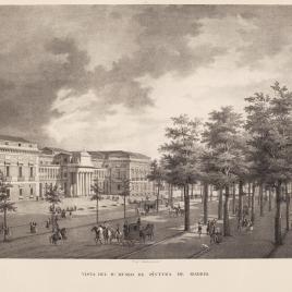 Vista del Real Museo de Pintura de Madrid