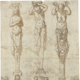 Studies of telamons and caryatids