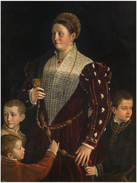 Camilla Gonzaga, Countess of San Secondo, and her Sons