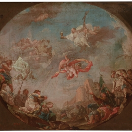 Sketch of the Triumph of the Holy Cross for the ceiling of the Royal Palace in Madrid