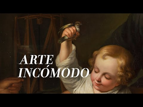 """Arte incómodo"": ""The Holy Family with a Little Bird"" (copy of Murillo), 1848, Isabella II, Queen of Spain 