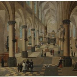 Interior de una iglesia en Flandes