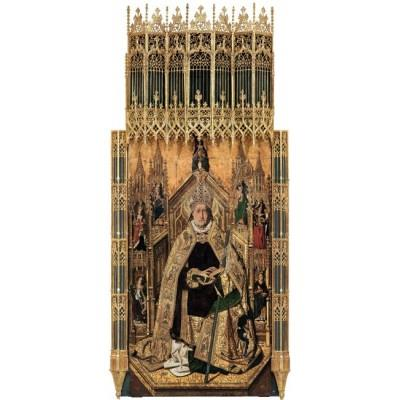 """St Dominic of Silos enthroned as Bishop"""