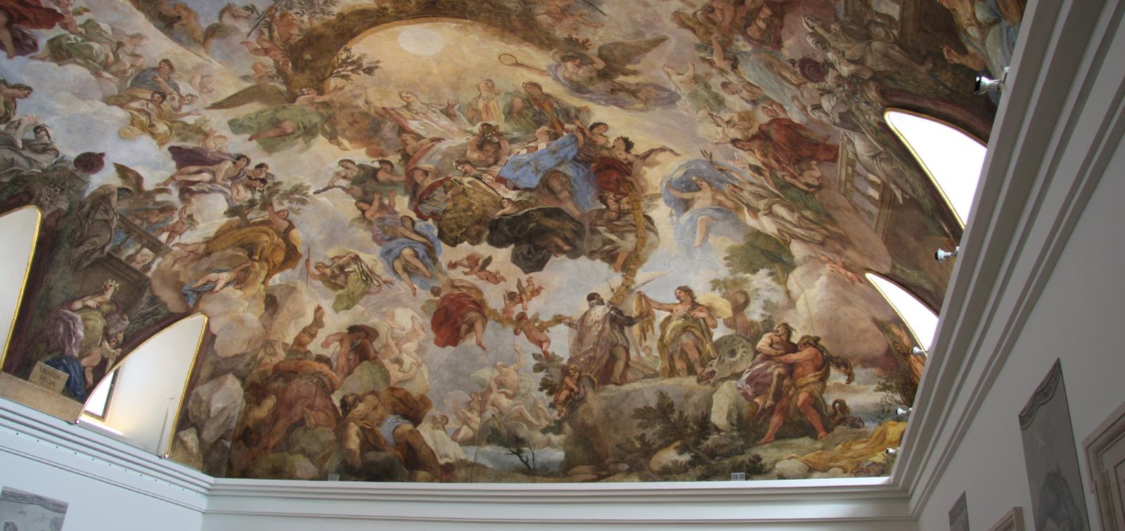 Visitas guiadas a la bóveda de Luca Giordano en la sala de lectura de la Biblioteca del Museo del Prado. Día del Libro 2019