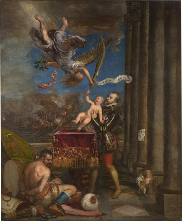Philip II offering the Infante don Ferdinand to Victory by Titian