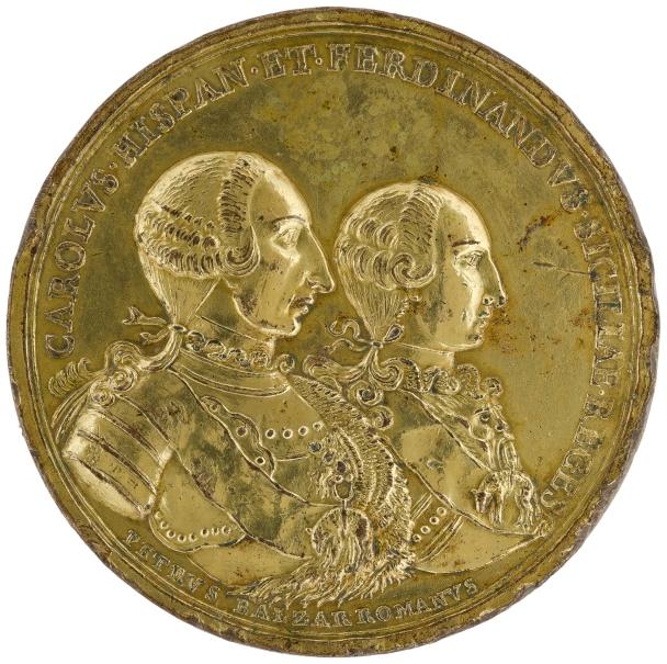 Carlos III y su hijo Fernando IV de Nápoles y Sicilia - El Albergo dei Poveri en Palermo