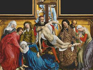 Cartelas del Descendimiento de Rogier van der Weyden