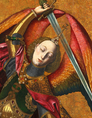 San Miguel triunfante sobre el demonio con Antoni Joan