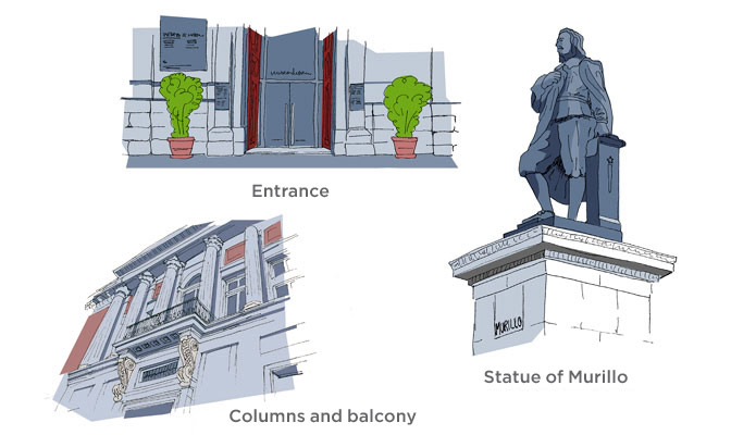 Details of the Murillo entrance