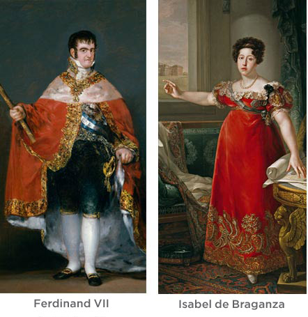Ferdinand VII and Isabel de Braganza