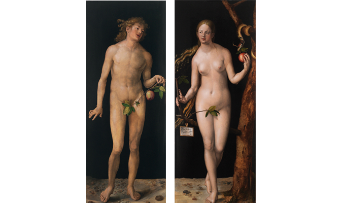 Adam and Eve by the painter Albrecht Dürer
