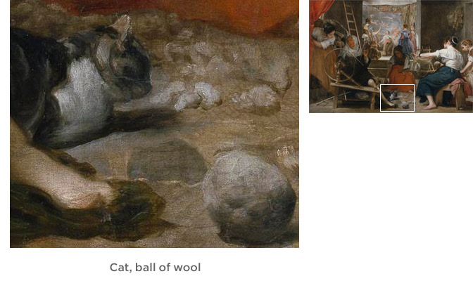Cat, ball of wool