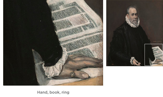 Hand, book, ring