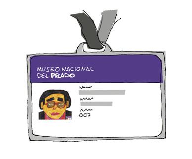 Purple identity card