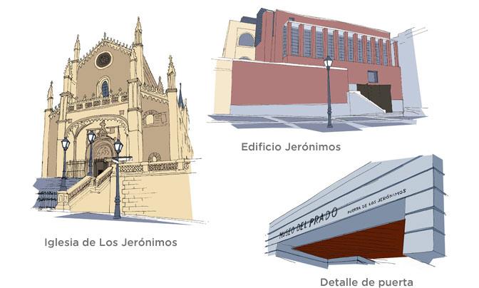 Detalles de la Puerta de los Jerónimos