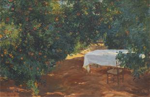 Calle de naranjos, Alcira de Sorolla