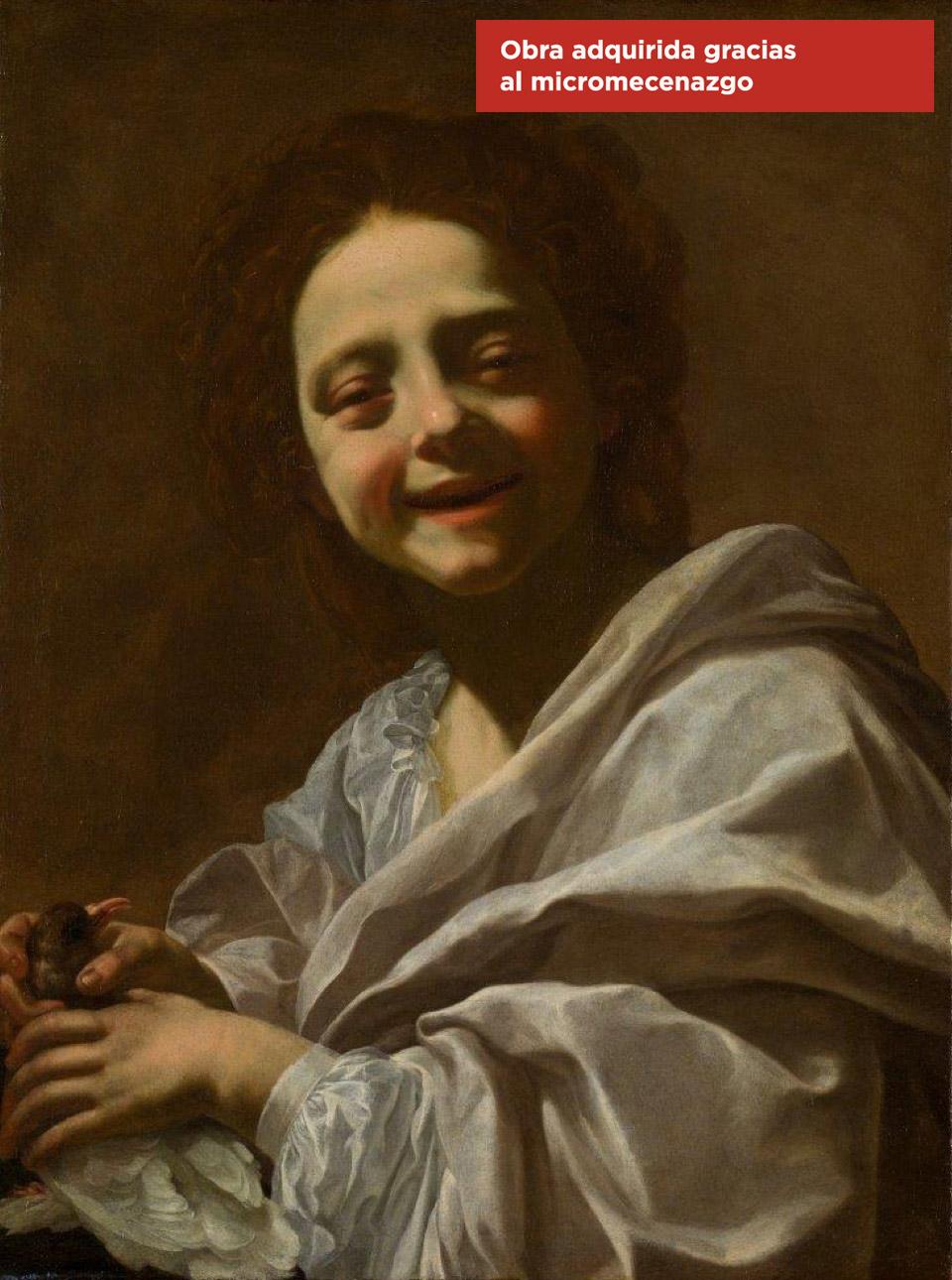 Retrato de niña con paloma, de Simon Vouet